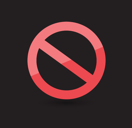 forbid: Forbid Symbol Illustration