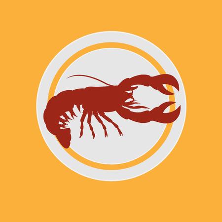 crawfish: Chinese Lobster Food Illustration