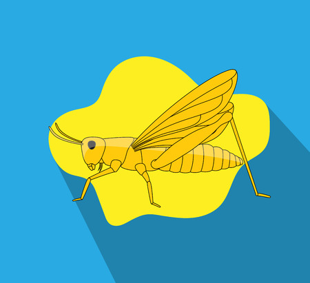 hopper: Grasshopper Vector Illustration