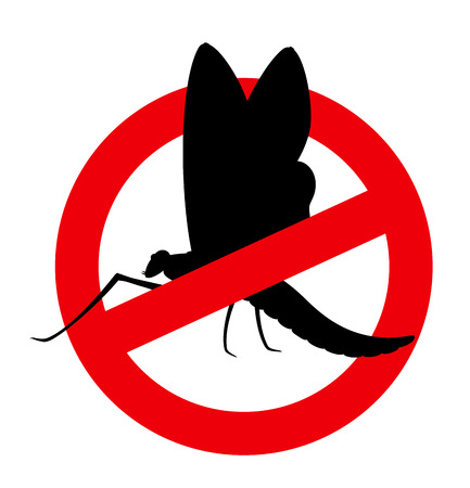 restriction: Mayfly Insect Restriction Sign Illustration