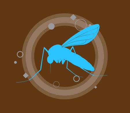 Bue Shape of Mosquito Illustration