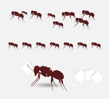 diligente: Diligentes hormigas equipo
