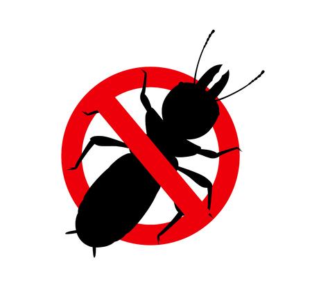 Termite Insect Remove Sign Vector Illustration