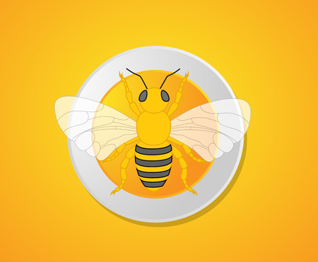 crawling creature: Bumble-Bee Isolated on Plate