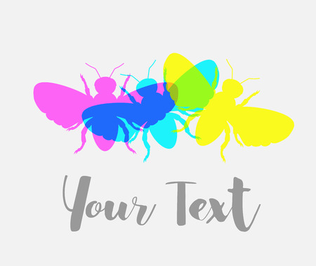 contagious: Colorful Flies Vector Background