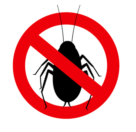 crawly: Remove Cockroaches Vector Sign Illustration
