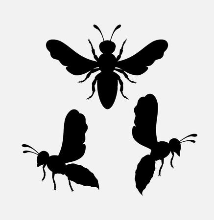 Wasps Silhouettes Illustration