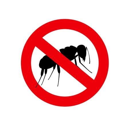 Ants Forbidden Symbol Illustration