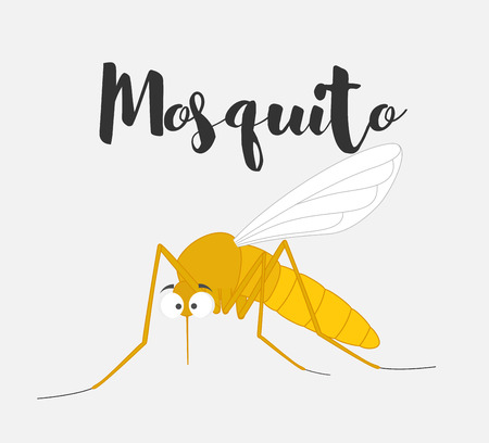 bloodsucker: Funny Mosquito Illustration