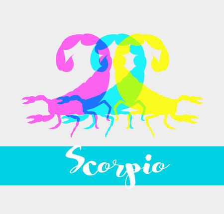 poisonous substances: Colorful Scorpions Shapes Illustration