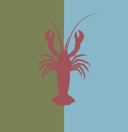 Lobster Shape Illustration