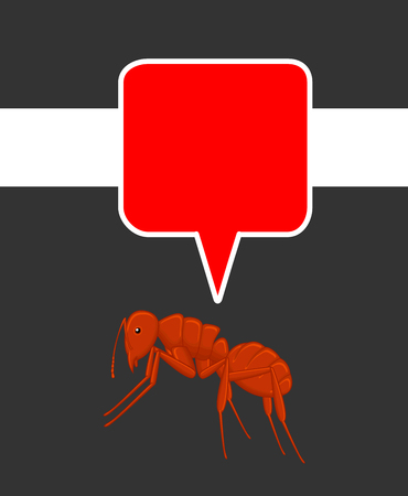 crawly: Ant with Speech Bubble Illustration