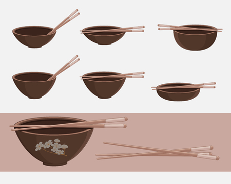 chopsticks: Food Bowls with Chopsticks
