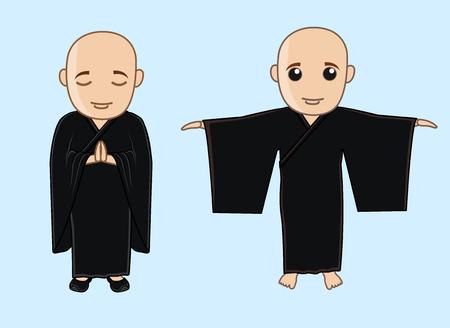 Japanese Kung-Fu Trainers Illustration