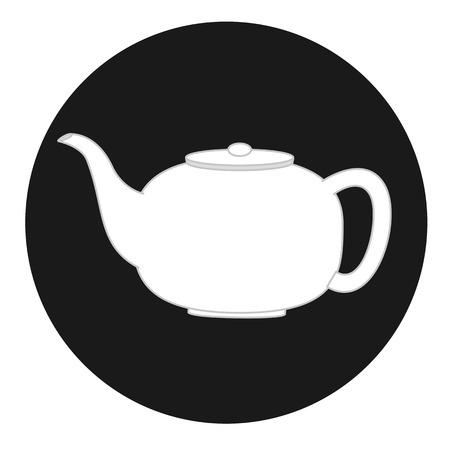 traditional chinese medicine: Ceramic Teapot Illustration
