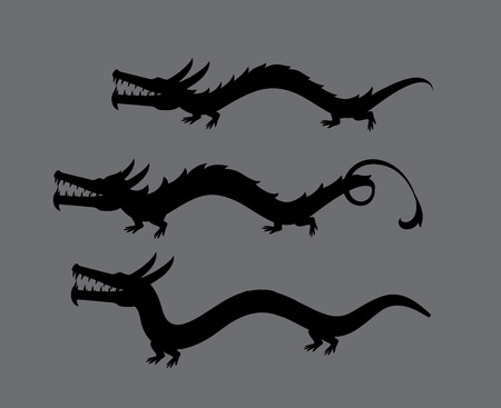 silhouettes: Dragons Silhouettes Illustration