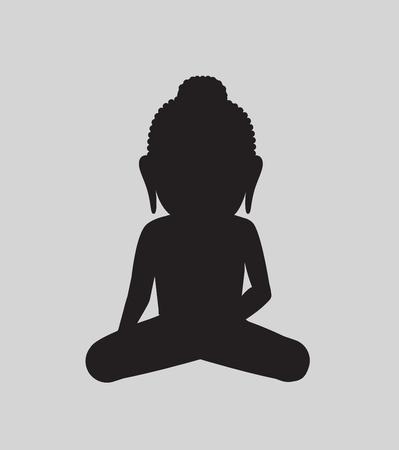 moksha: Mahavira Saint Silhouette Illustration