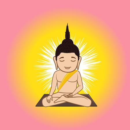 gautama buddha: Gautama Buddha Illustration Illustration