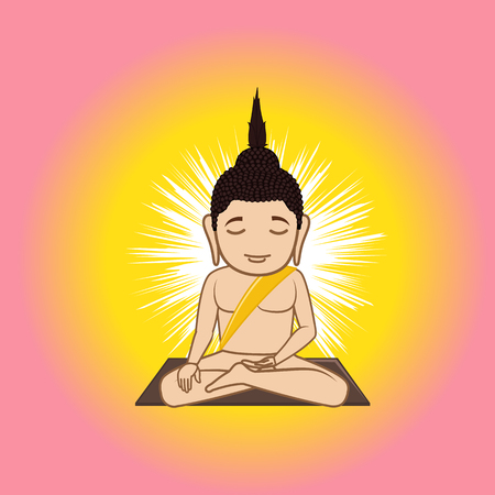 Gautama Buddha Illustration Illustration