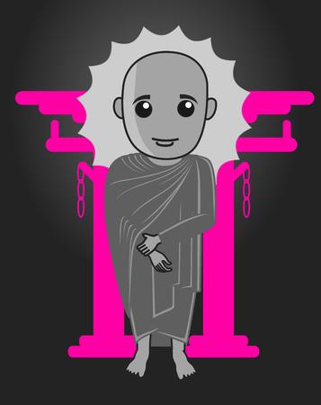 moksha: Monk Shinto Illustration