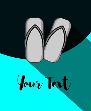 sandals: Vintage Geta Sandals Template Illustration