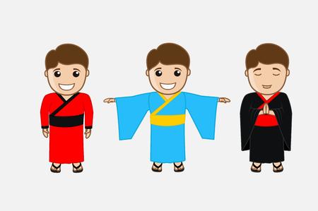 kungfu: Chinese Kung-Fu Fighters Illustration