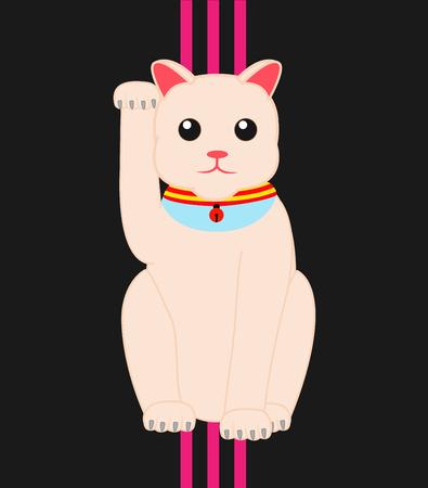 maneki neko: Maneki Neko Lucky Cat Illustration