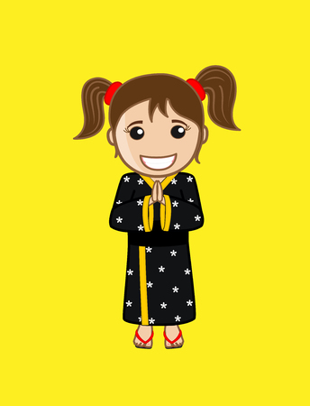 kokeshi: Japanese Small Girl in Inviting Posture