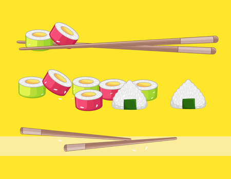 nori: Sushi and Rice Ball Foods Illustration