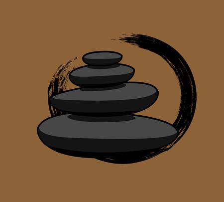 zen stones: Black Spa Zen Stones