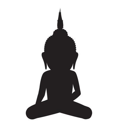 gautama buddha: Gautama Buddha Silhouette
