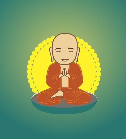 taoist: Bhikkhu Monk Praying