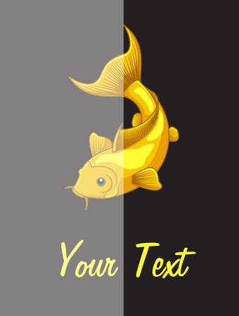 pond life: Koi Fish Template Illustration