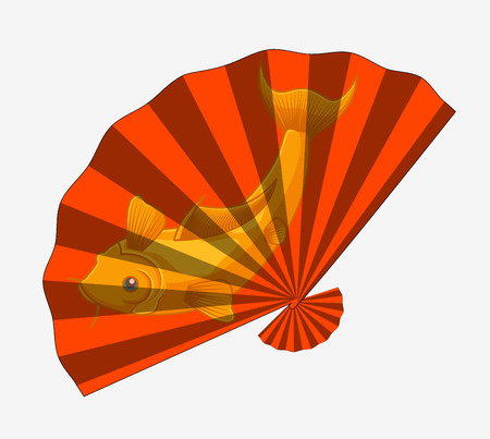Japanese Folding Fan Illustration