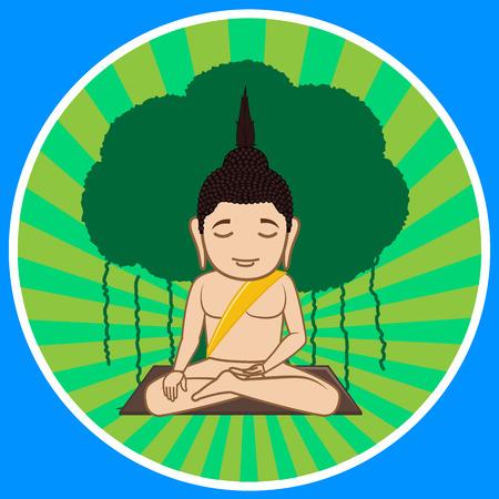 moksha: Gautama Buddha Concentration Illustration