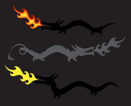 spitting: Dragons Spitting Fire