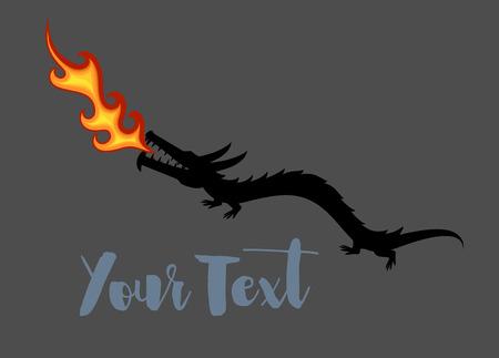 spitting: Dragon Spitting Fire Vector