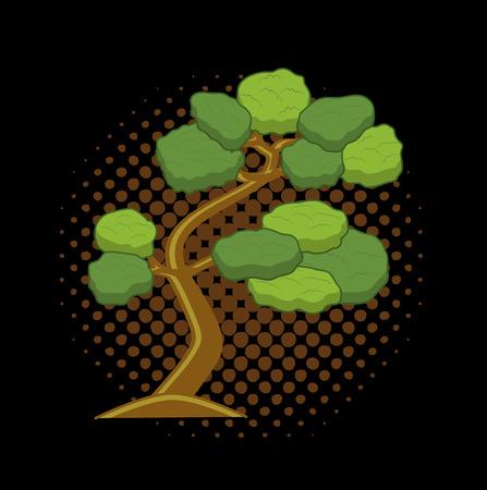 asian gardening: Tree Vector