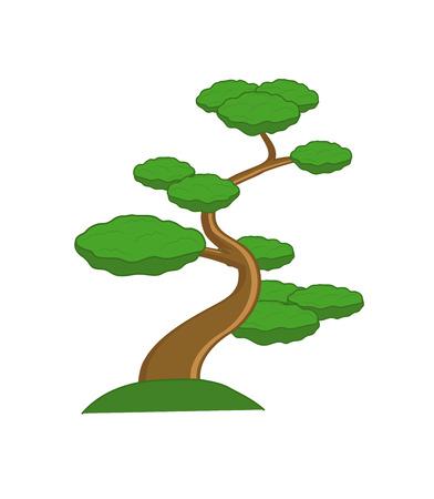 Bonsai Plant Vector Illustration