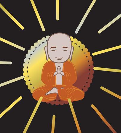 monasteries: Devotee Buddhist Monk