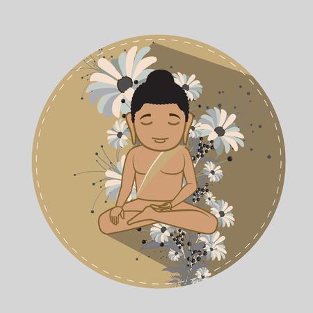 jainism: Saint Mahavira Doing Meditation