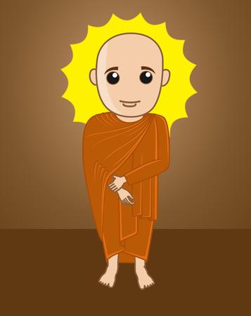 jainism: Divine Tibetan Monk Illustration