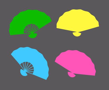 Colorful Folding Fans Shapes