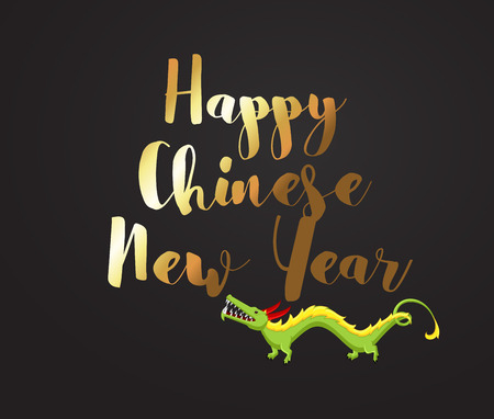 chinese new year dragon: Chinese New Year Greeting Background Illustration