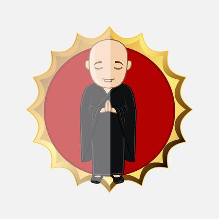 Japanese Kung-Fu Trainee Illustration