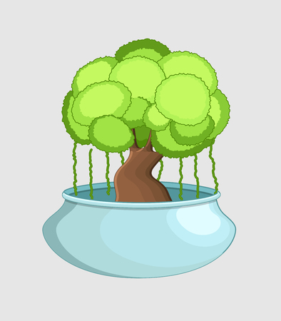 Bonsai Tree in Pot Vector