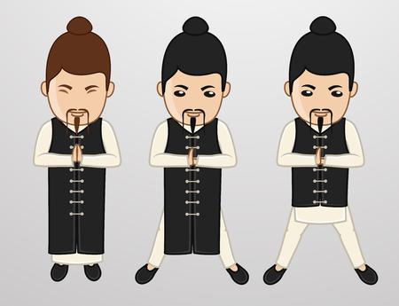Kung-Fu Monks Character Poses