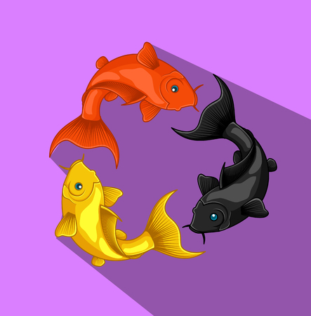 fishes: Recycling Koi Fishes Vector Illustration