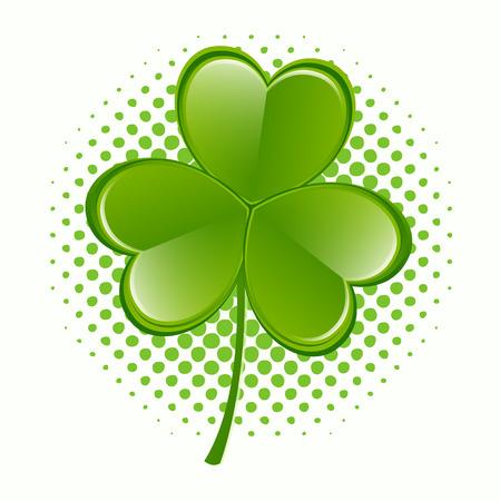 threeleaf: Fresh Clover Leaf Icon Illustration