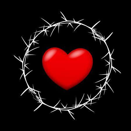 Heart in Thorn Frame